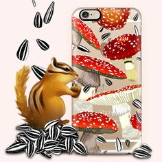The new Amanita case is this little guy's favorite! 🍄🐿 Available in many phone models! Click!