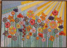 If it& cold, rainy, or snowy where you are right now, here& a breath of springtime from the 2011 Houston International Quilt Festival. International Quilt Festival, Flower Quilts, Landscape Quilts, Floral Theme, Mini Quilts, Applique Quilts, Fabric Art, Quilting Projects, Textiles
