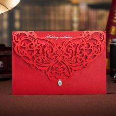Boda invitación/30 pcs que rojo invita con arte patrón, Favor de la boda, invitación boda, artículos de papel, invitan a la nueva pareja/invitación/de la boda