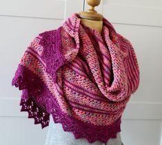 KNITTING PATTERN SHAWL - Loving Key West Shawl - easy knitting shawl pattern pdf Pattern instant download lace knitting wrap pattern
