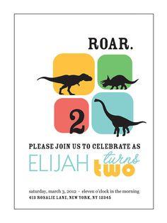 .Dinosaur Kids Birthday Invitation - PRINTABLE from etsy