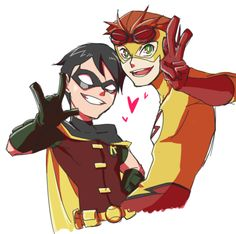 Young Justice Robin and Kid Flash's friendship is the cutest. <3