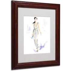 Trademark Fine Art Silver Wear Framed Canvas Art by Jennifer Lilya, Wood Frame, Size: 16 x 20, Multicolor
