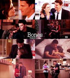 Bones and Booth over the seasons