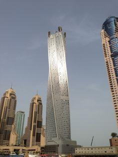 The infinity Tower Dubai Marina