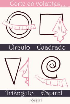 Aprende a cortar volantes para tus proyectos de costura / Little post (SKARLETT) - Pat Tutorial and Ideas Sewing Basics, Sewing Hacks, Sewing Tutorials, Sewing Crafts, Sewing Projects, Sewing Ideas, Techniques Couture, Sewing Techniques, Dress Sewing Patterns