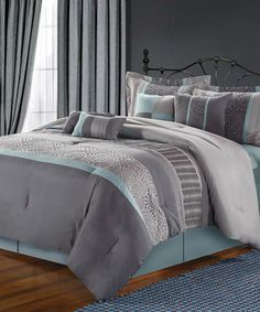 Love this Blue Euphoria Comforter Set by Chic Home Design on #zulily! #zulilyfinds