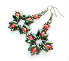 Chilli earrings picture tute by Růžena Mikulová  ~ Seed Bead Tutorials