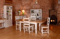 Our Canterbury range has oak tops and painted solid pine. Available in 13 colours