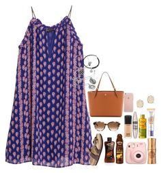 """""""Lyd's contest day 2: arriving at mahogany bay"""" by pandapeeper ❤ liked on Polyvore featuring MANGO, Birkenstock, Hawaiian Tropic, Kate Spade, MAC Cosmetics, Maybelline, ALBA, Benefit, L'Oréal Paris and Tory Burch"""