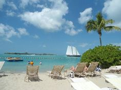 Pier House Resort and Spa: View from my beach lounge chair.  Real tough to take!
