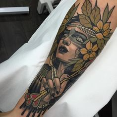 Neo Traditional Tattoo by Rodrigo Kalaka #NeoTraditional #NeoTraditionalTattoos #NeoTraditionalTattooing #NeoTraditionalArtists #BestArtists #RodrigoKalaka