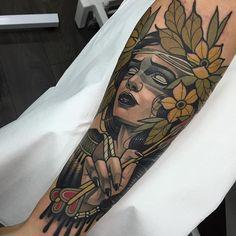 Neo Traditional Tattoo by Rodrigo Kalaka #NeoTraditional #NeoTraditionalTattoos #NeoTraditionalTattooing #NeoTraditionalArtists #BestArtists #RodrigoKalaka