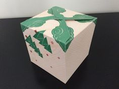 Paper box using the gift box board by We R Memory Keepers.
