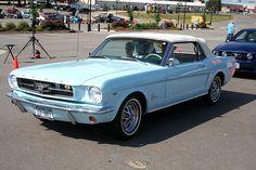 1965 Mustang Light Blue Convertible