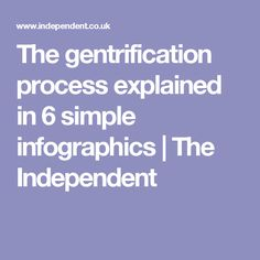 The gentrification process explained in 6 simple infographics | The Independent