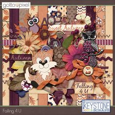 Falling 4 U Digital Scrapbook kit at Gotta Pixel. www.gottapixel.net/
