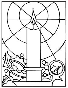 1000 images about stain glass on pinterest stained for Christmas stained glass coloring page