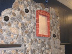 Styrofoam Faux Stone Wall Carved with Hot Wire Foam Factory Tools