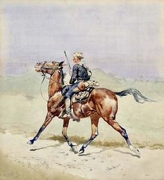 Frederic Remington, The Advance Guard, ca Artworks Search Results / American Art American Indian Wars, Native American Art, American Artists, Apache Indian, Frederic Remington, Scouts, West Art, Canvas Art, Canvas Prints