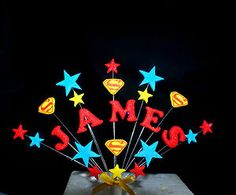 superman cake ideas | ANY NAME, AGE SUPERHERO BIRTHDAY CAKE TOPPER ( superman) | eBay