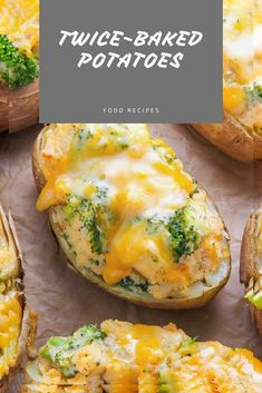 Broccoli and Cheddar Twice-Baked Potatoes Cube Steak Recipes, Cooked Chicken Recipes, Beef Recipes For Dinner, Vegetarian Recipes Easy, Easy Recipes, Easy Meals, Healthy Recipes, Easy Chicken Fettuccine Alfredo, Fetuchini Alfredo