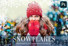 Winter Overlays Photoshop by FixThePhoto on @creativemarket Photoshop Overlays, Paint Shop, Snowflakes, Crochet Hats, Winter, Creative, Graphics, Models, 3d