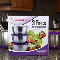"Amazon US review of CuisineFx 3-piece mixing bowl set: ""Five Stars"""