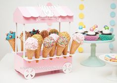 Astra's Sweet Pastel Birthday Afternoon Tea Party by A&K Lolly Buffet Ice Cream Theme, Ice Cream Parlor, Lolly Buffet, Ice Cream Social, Candy Party, Party Centerpieces, Birthday Party Themes, Birthday Candy, Cake Birthday