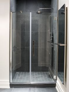 Stand up shower with Ginger's fixtures