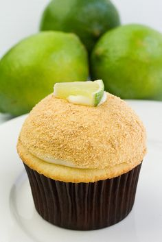 Key Lime Cupcake Dipped in Graham Cracker Crumbs!