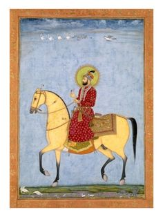 The Mughal Emperor from the Large Clive Album Mughal Paintings, Indian Paintings, Year Of The Horse, Mughal Empire, Tropical Art, Islamic Art, Indian Art, Art And Architecture, Painting & Drawing