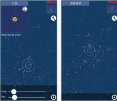 The Planet Book, a free app by Vixen Co., Ltd., uses astronomers' data to create a simulation of the solar system's movements that shows users which nights would be best to get the telescope out, as well as which direction they should be looking.