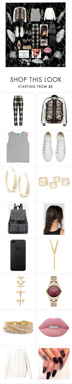 """Cozy"" by j-k-mir ❤ liked on Polyvore featuring MaxMara, River Island, M.i.h Jeans, Converse, Lana, BERRICLE, Luv Aj, Karl Lagerfeld, Torrid and Lime Crime"