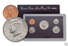 1993-S-United-States-Mint-Proof-Set-5-Coins-COA-OGP