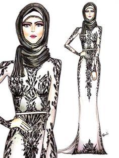 Islamic Fashion, Muslim Fashion, Modest Fashion, Unique Fashion, Fashion Art, Girl Fashion, Womens Fashion, Chic Outfits, Trendy Outfits