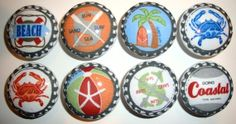 Handmade Boys Coastal Surf Dresser Drawer Knobs  by whimzicality, $21.99 Would this go with my stuff??