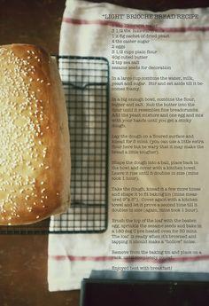"""""""Light"""" Brioche Bread"""