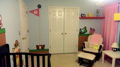 My wife and I had our first child Saturday; this is her nursery! (All hand-painted) - Imgur