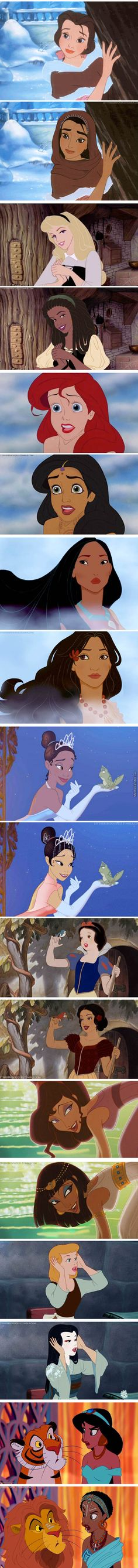 interesting :t Disney princesses in different cultures