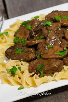 Slow Cooker Beef Stroganoff This is my all-time favorite Beef Stroganoff recipe! Tender beef in a savoury rich sauce.