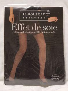 1b7b09704 Le Bourget Effet de Soie Pantyhose Tights Noir Size 4  fashion  clothing   shoes