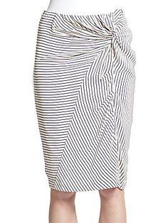 Silk Crepe Knot-Detail Skirt