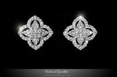 Cassie Clover Paved Stud Earrings | 2 Carat | Cubic Zirconia