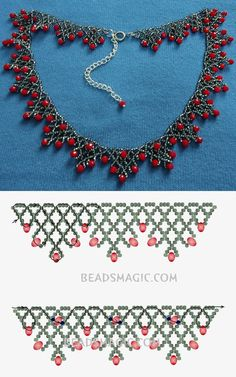 Free pattern for necklace Sorbo seed beads 11/0 rondelle crystals - fánk gyöngy 4*6 mm #beading #crafting #cbloggers #beadlove #diy