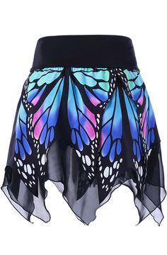 Butterfly Print Handkerchief Skirt