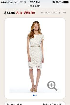 White dress for courthouse wedding