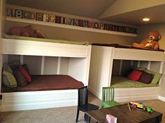 LOVE OF HOMES:   Built in bunk beds