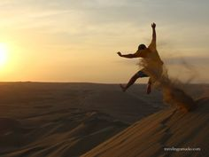 Sand boarding in Peru?  Who knew?