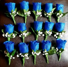 Royal Blue Corsage for the Groomsmen from StylishSuppliesDecor Blush Wedding Reception, Blue Wedding Dresses, Purple Wedding, Wedding Flowers, Dream Wedding, Blue Weddings, Spring Weddings, Royal Blue Bridesmaids, Bridesmaid Flowers